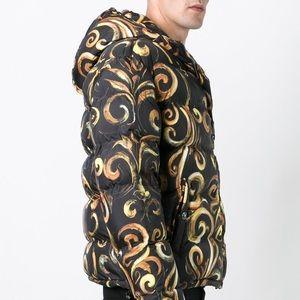 972fce670bb Versace Jackets & Coats - New Versace Barocco Black Gold Down Puffer Jacket